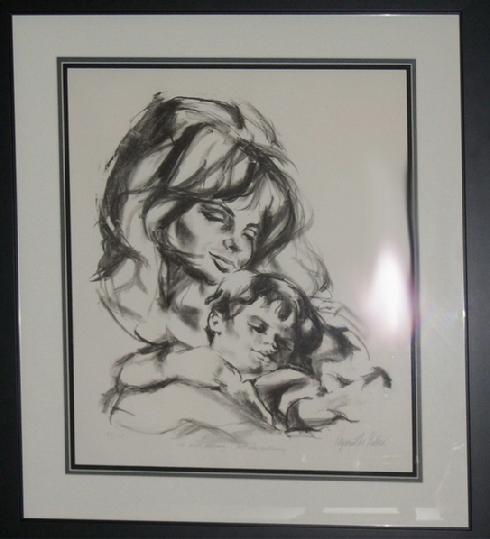 """The Child Dreaming...Alll Else Continuing"" Mother and Child Lithograph, edition of 175"